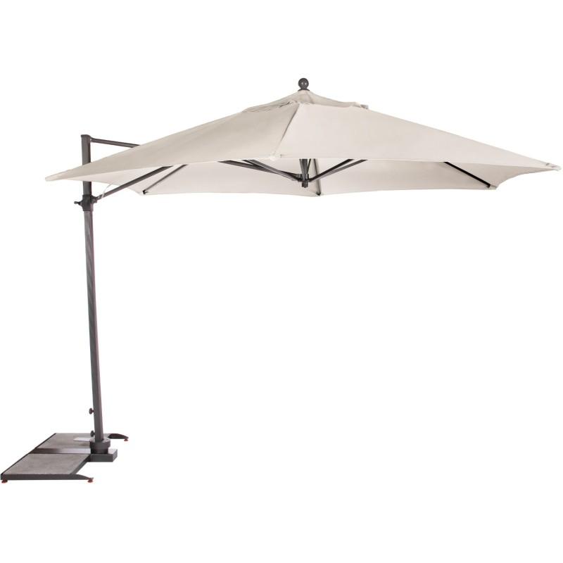 Kettler Parasol 2.5m Push Up Free Arm Grey Frame - Natural Canopy