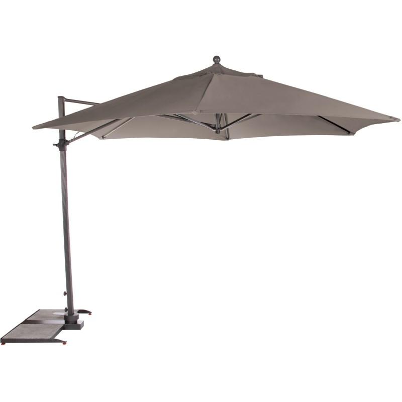 Kettler Parasol 2.5m Push Up Free Arm Grey Frame - Slate Canopy