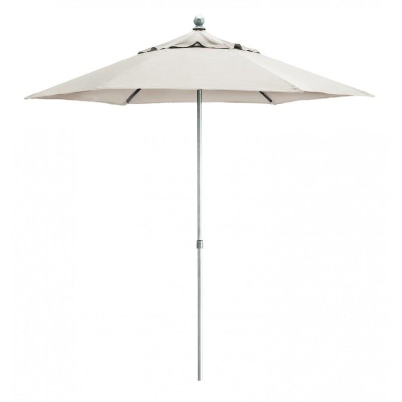 Kettler Parasol 2.5m Wind Up with tilt Aluminium Frame - Natural Canopy