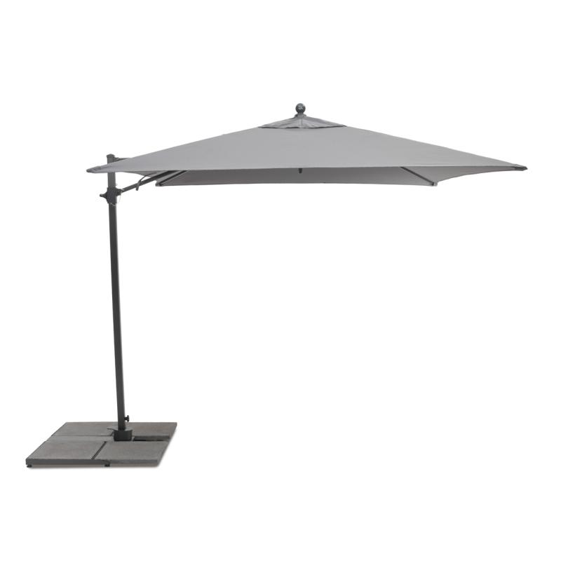Kettler Parasol 3.5m Push Up Free Arm Grey Frame - Slate Canopy